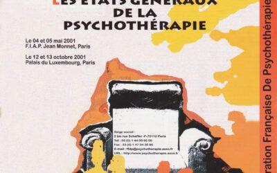 Colloques 2001 – Les états généraux de la psychothérapie
