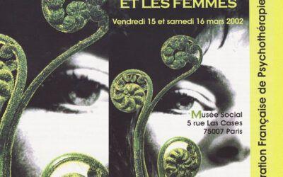 Colloque 2002 – La psychothérapie et les femmes